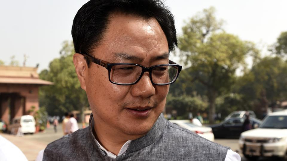 """Rijiju refuted the allegations and said those spreading lies against him will be """"thrashed with shoes"""" in Arunachal Pradesh."""