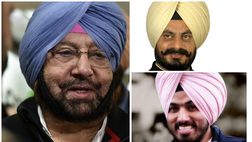 (Clockwise from left) Punjab Congress president Capt Amarinder Singh, MLA Kuljit Singh Nagra, and ticket aspirant Brinder Dhillon