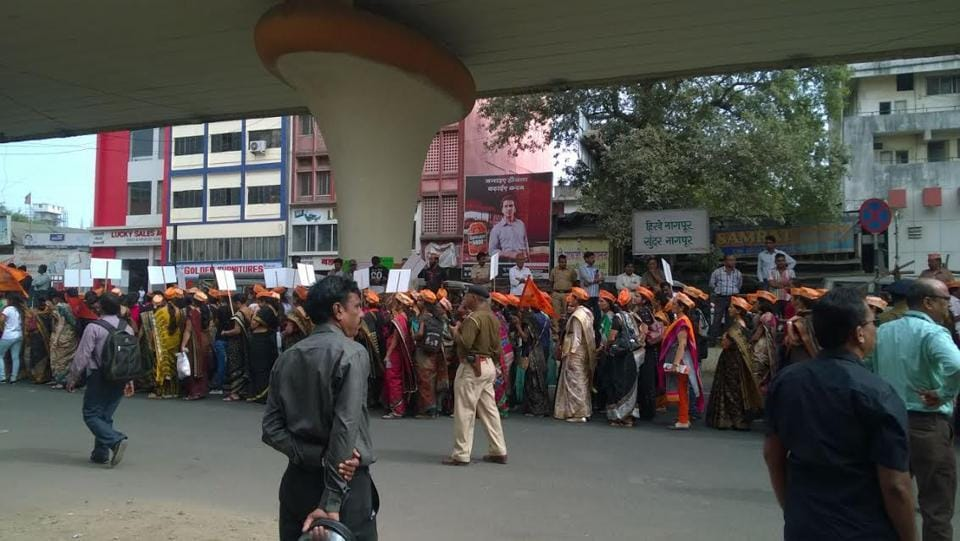The morcha began from Yashwant Stadium in south Nagpur at 12.15 pm, which was supposed to start at 10am