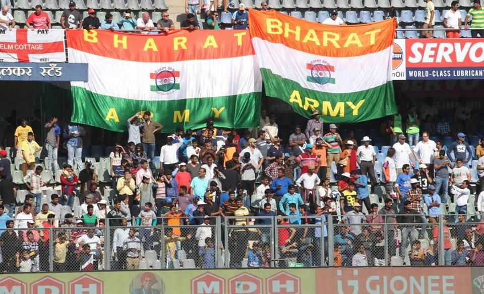 The India vs England Test at Wankhede saw good attendance.