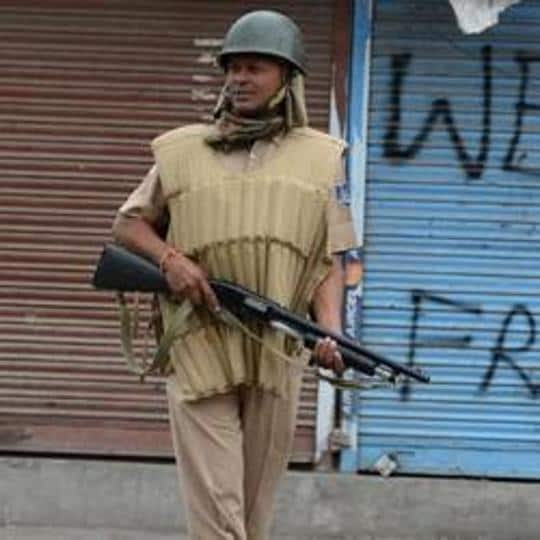 The army has reportedly cordoned of Hajin village in southern Kashmir after suspected militants reportedly opened fire.
