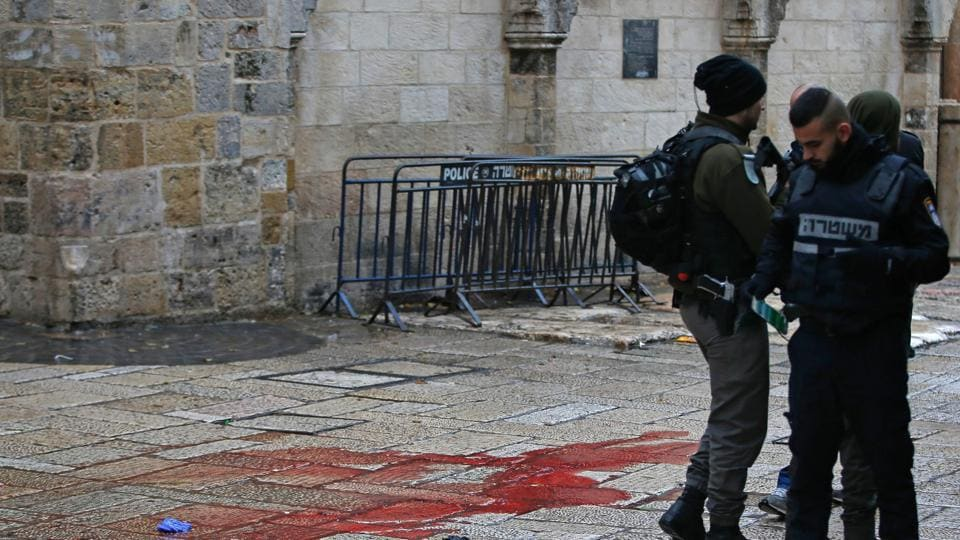 The assailant struck in the heart of the Old City, a major draw for foreign tourists and pilgrims but the site of several attacks over the past year.
