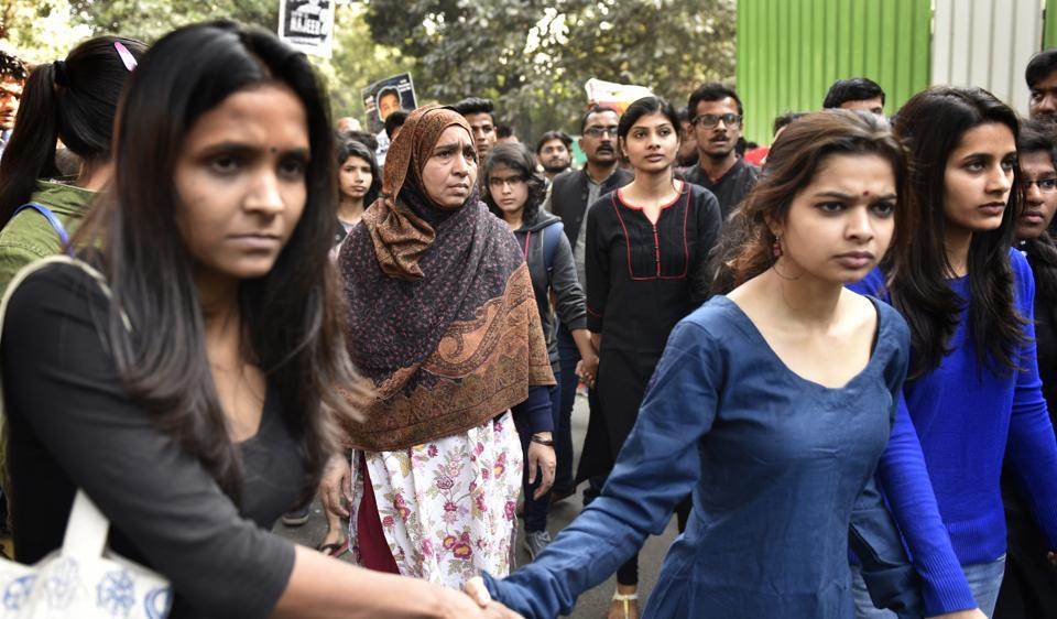 The family and friends of missing JNU student Najeeb Ahmed took out a march on Wednesday. Ahmed, a first year MSc student, went missing from JNU campus on the night of October 14-15.