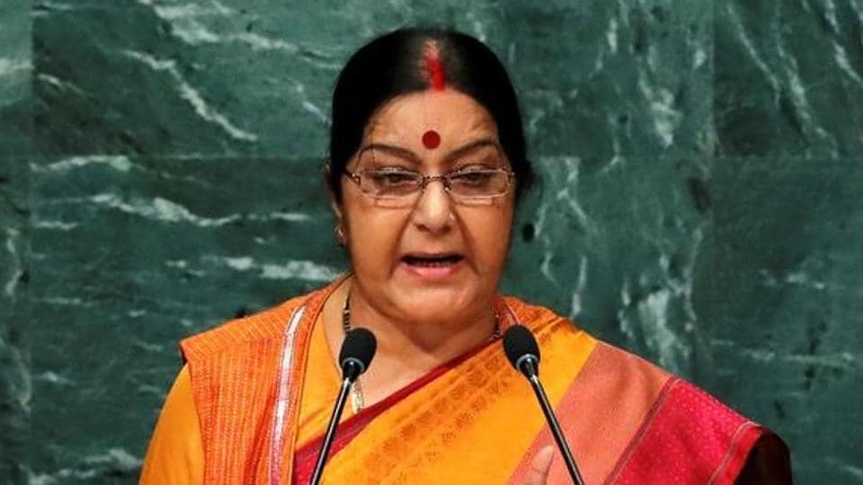 Minister of external affairs Sushma Swaraj.