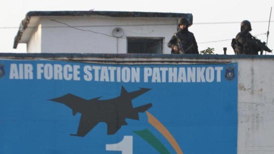 Commando stand guard at the Pathankot airbase during a search operation in Pathankot. Military-grade equipment, including a device used by terrorists during the deadly attack in Punjab last year, can be bought online in India.