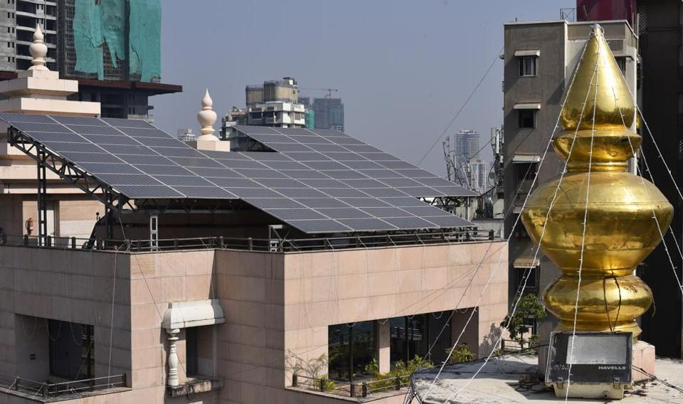 Mumbai's Siddhivinayak uses solar panels to meet its energy requirements.