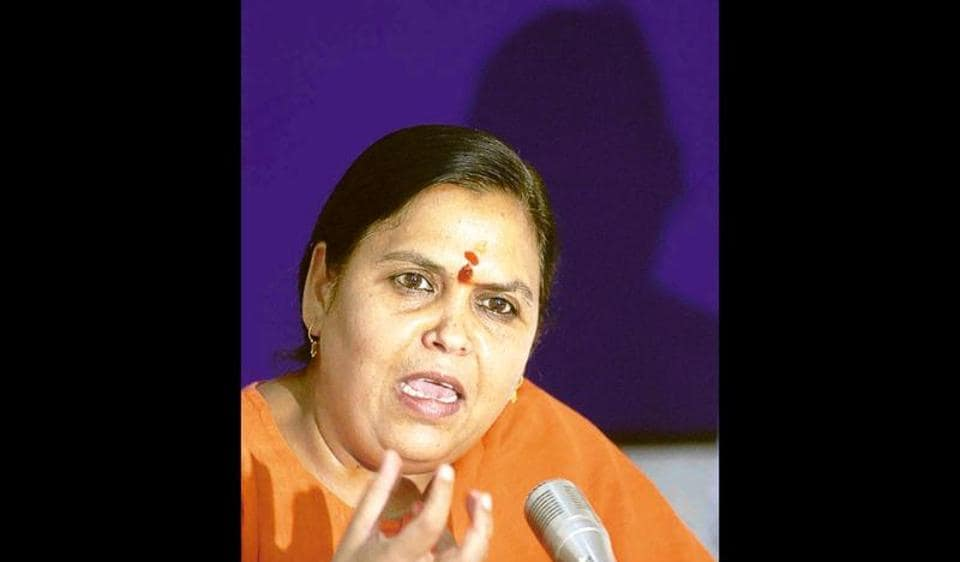 Uma Bharti said Chouhan is worthy of appreciation for the Narmada Sewa Yatra campaign he has launched to protect the river.