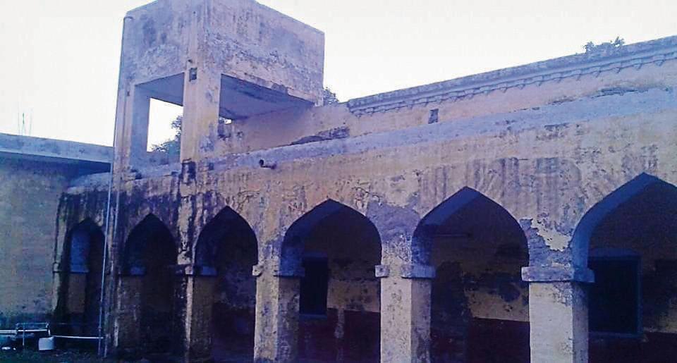 Dilapidated condition of the Arya Anathalya Ferozepur.