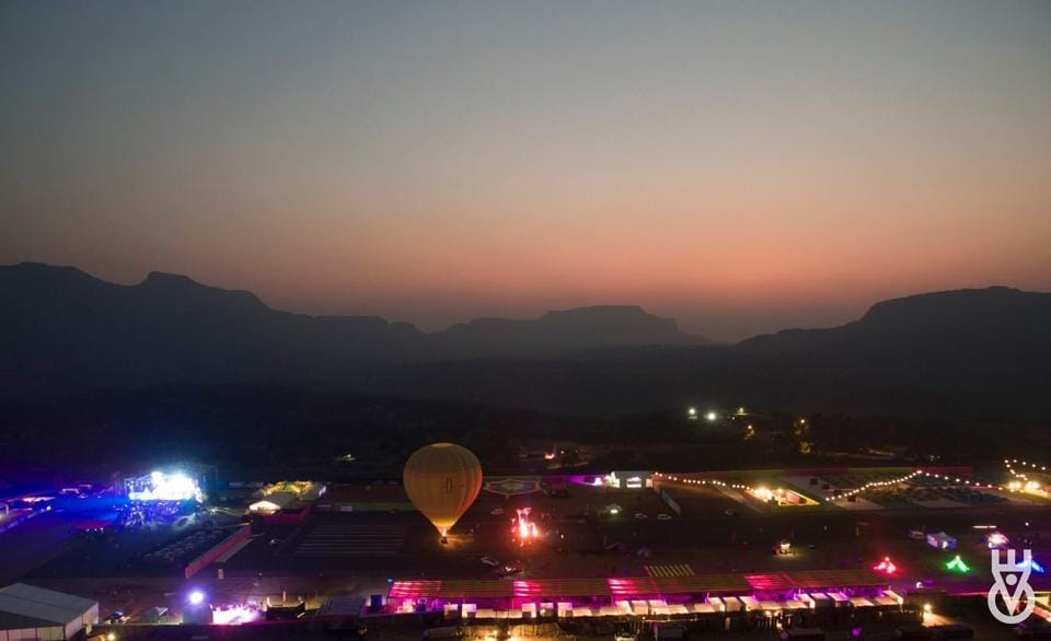 A bird's eye view of the Enchanted Valley Carnival