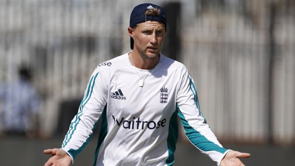 England's Joe Root gestures during a practice session in Chennai. (AP)