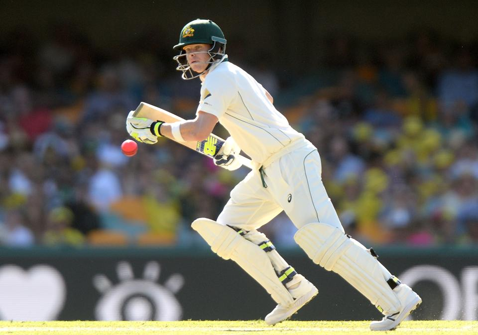 Steven Smith notched up his 19th Test fifty as Australia made solid progress against Pakistan in the Pink-ball Test in Brisbane.