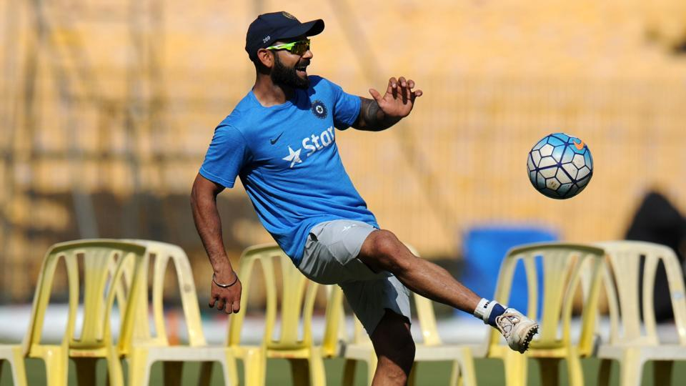 Virat Kohli and the Indian cricket team played a game of foot volley ahead of the Chennai Test versus England.