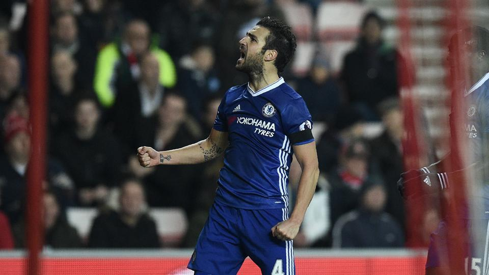 Chelsea F.C.'s manager Antonio Conte has praised Cesc Fabregas' contribution after the team was guaranteed a top spot finish heading into the Christmas season.