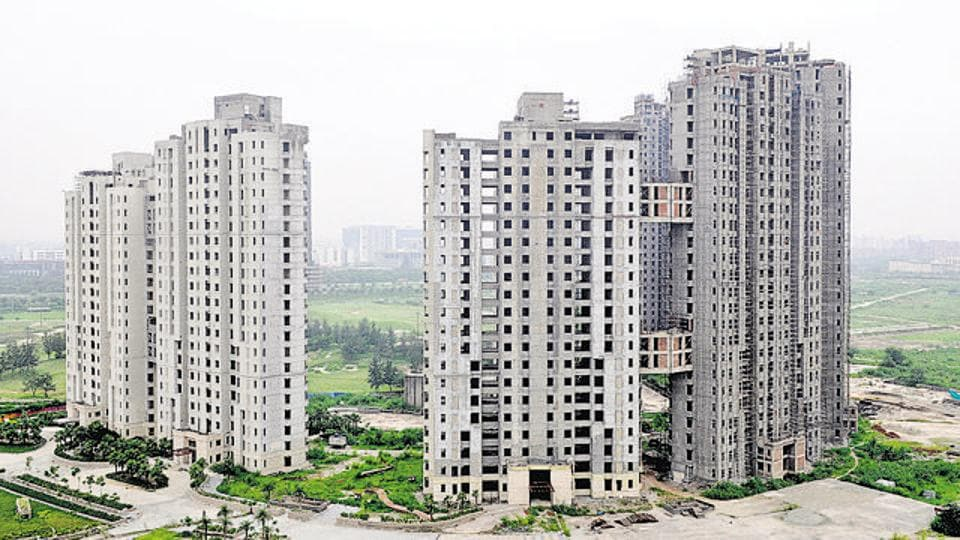 The Unitech Burgundy project at sector 96, in Noida.