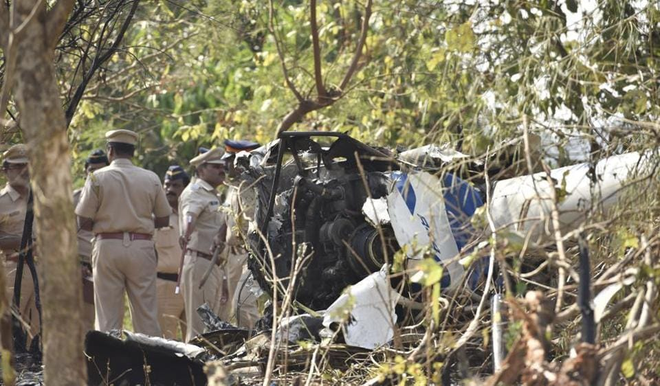 Vrinda was sitting behind the co-pilot when the Aman Aviation helicopter crashed in Filterpada of Aarey Colony.