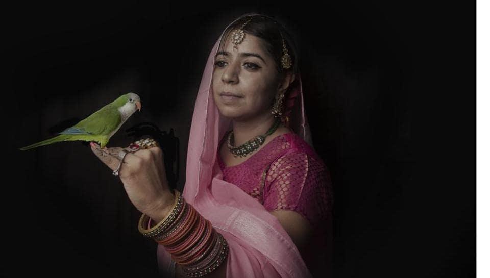 Yadav dressed as Mehr-un-Nissa (Nur Jahan)