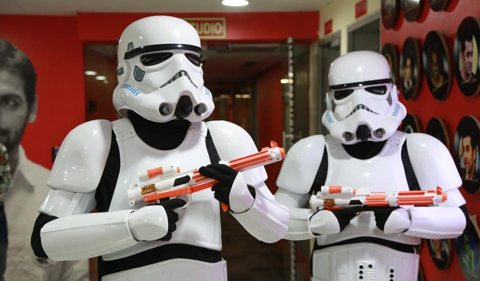 Stormtroopers strike a pose at the HTHouse