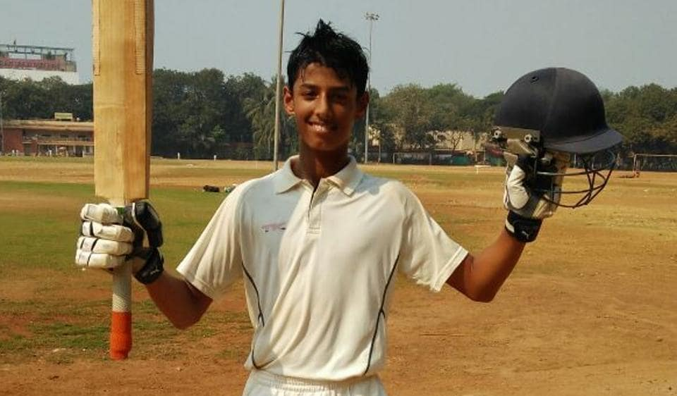 Suryansh Shegde scored 326 off just 137 balls in Mumbai's Giles Shield.