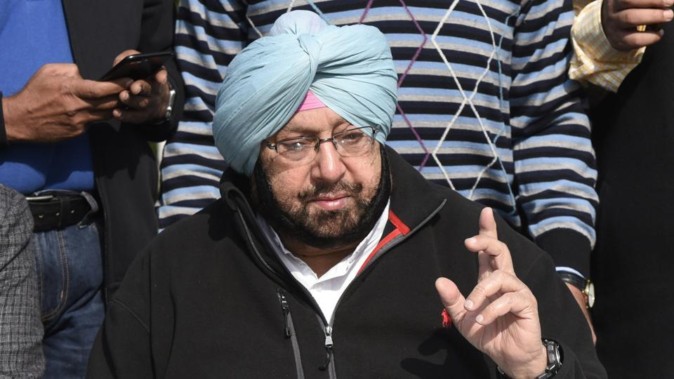 Punjab congress president Captain Amarinder Singh addresses a press conference in New Delhi.