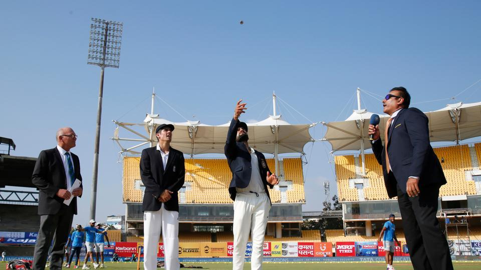 Alastair Cook won the toss and chose to bat on a pitch that had a bit of moisture. (BCCI)