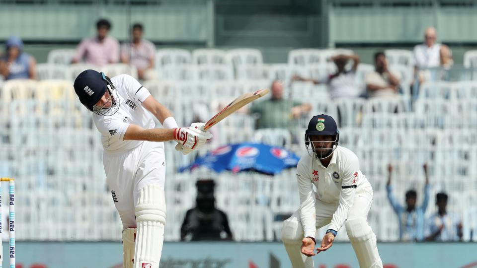 Joe Root steadied the innings with some attacking cricket as he did not allow the spinners to settle. (BCCI)