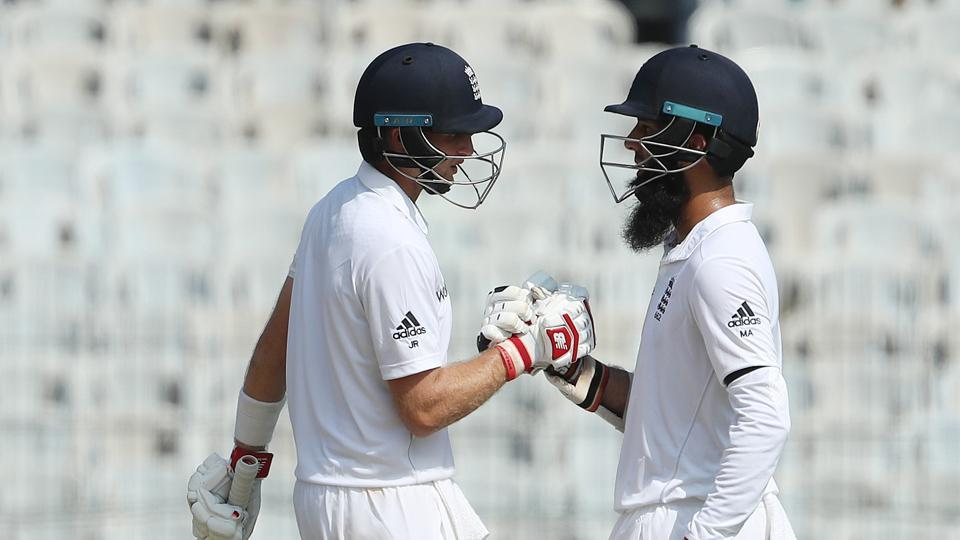 Joe Root and Moeen Ali shared a 146-run stand for the third wicket to put England on track. (BCCI)