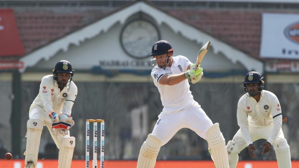 Jonny Bairstow launched three sixes as he continued to attack the spinners. (Photo by: BCCI)