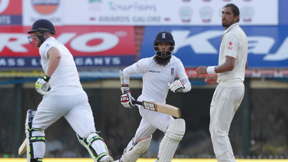 Moeen Ali and Ben Stokes ensured no further hiccups and at stumps on day 1, England were 284/4. (Photo by: Deepak Malik BCCI/ SPORTZPICS)