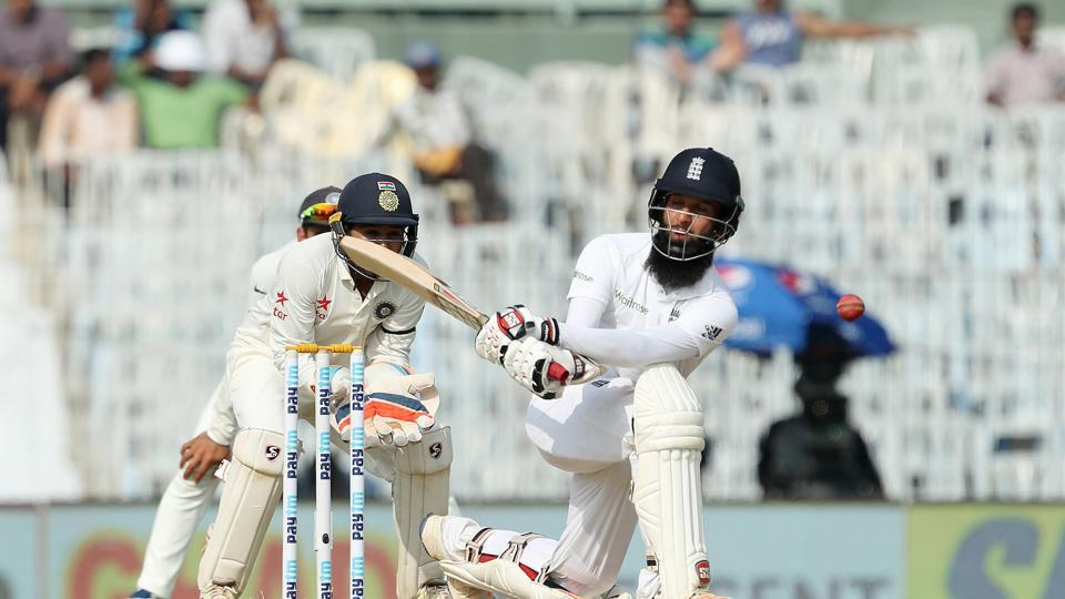 Moeen Ali continued to attack as he neared his century. (BCCI)