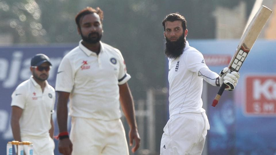 Moeen Ali  notched up his fifth Test century as England were in a strong position on day one of the Chennai Test versus India.