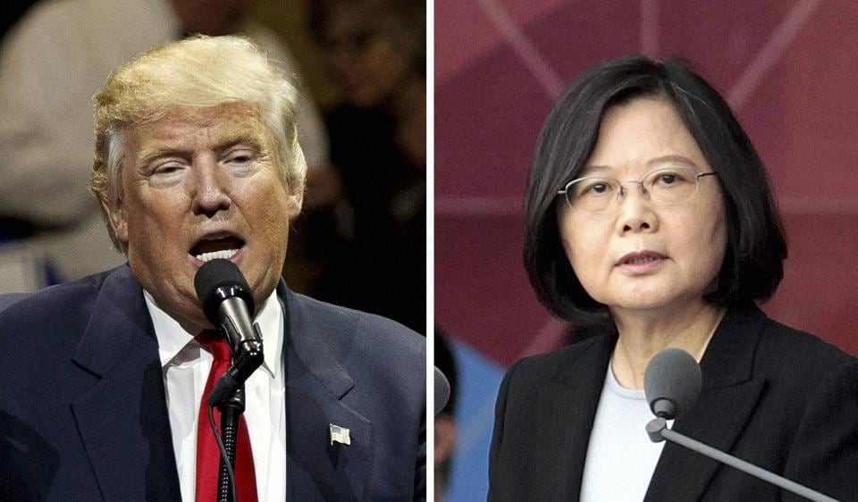 United States president-elect Donald Trump and Taiwanese President Tsai Ing-wen.