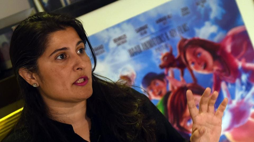 Pakistani film director Sharmeen Obaid-Chinoy speaks during an interview with AFP at her office in Karachi.