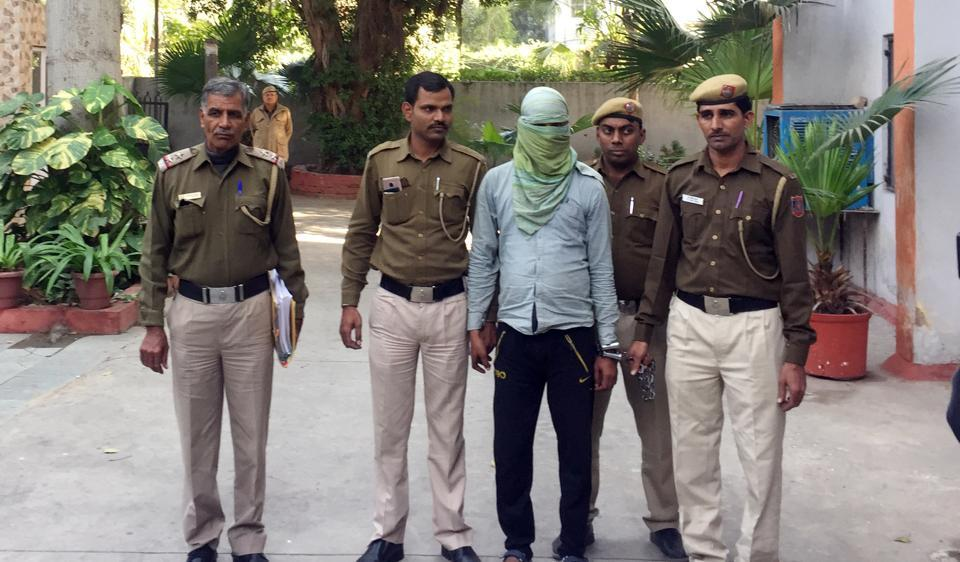 The accused driver who drove a rental car bearing a ministry of home affairs sticker was arrested in New Delhi on Friday,