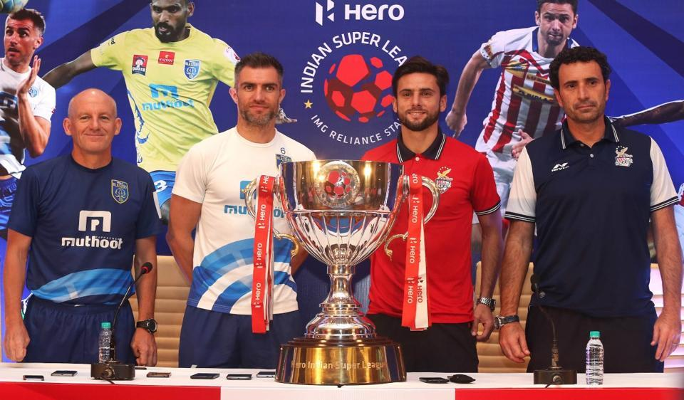Kerala Blasters face Atletico de Kolkata in the final of the 2016 Indian Super League.