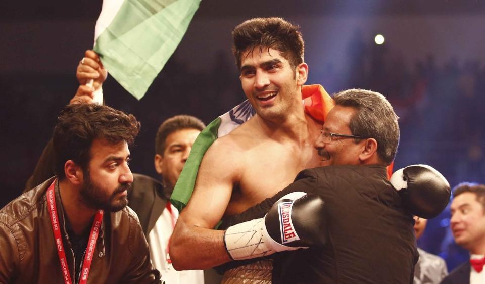 Vijender Singh defeated Francis Cheka by a third round knockout.
