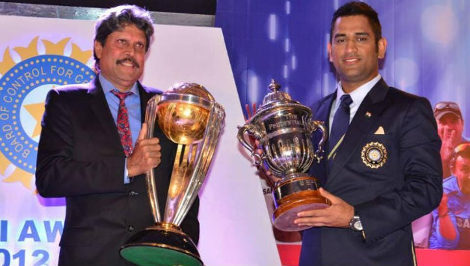 Image result for kapil dev with dhoni