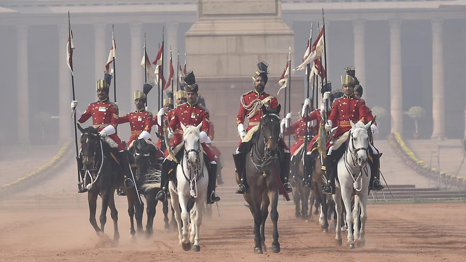 The Presidents Bodyguard is a mounted unit, for ceremonies at the presidential palace. (Raj K Raj/HT )