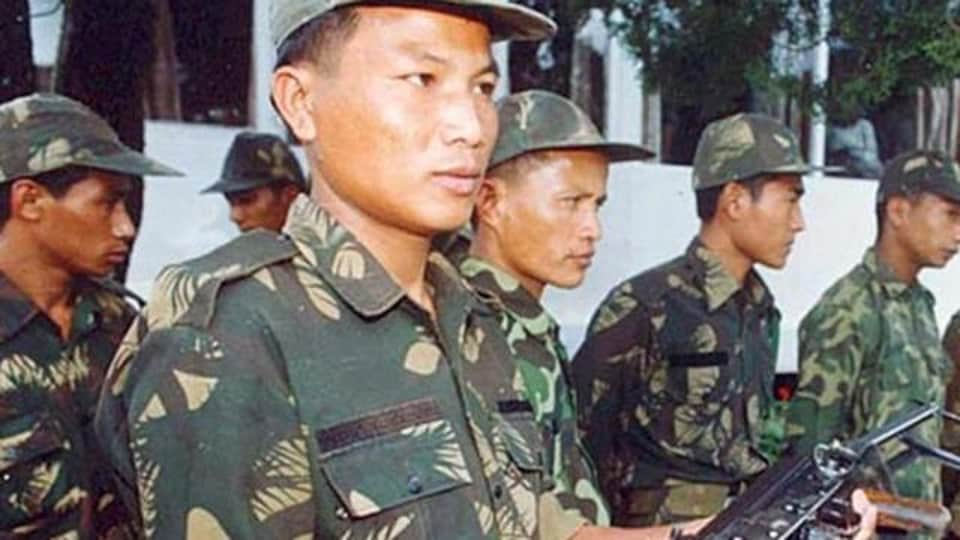 The militants took away weapons from a team of 6th Manipur Rifles and 7th Indian Reserve Battalion based in the area, said a police officer.