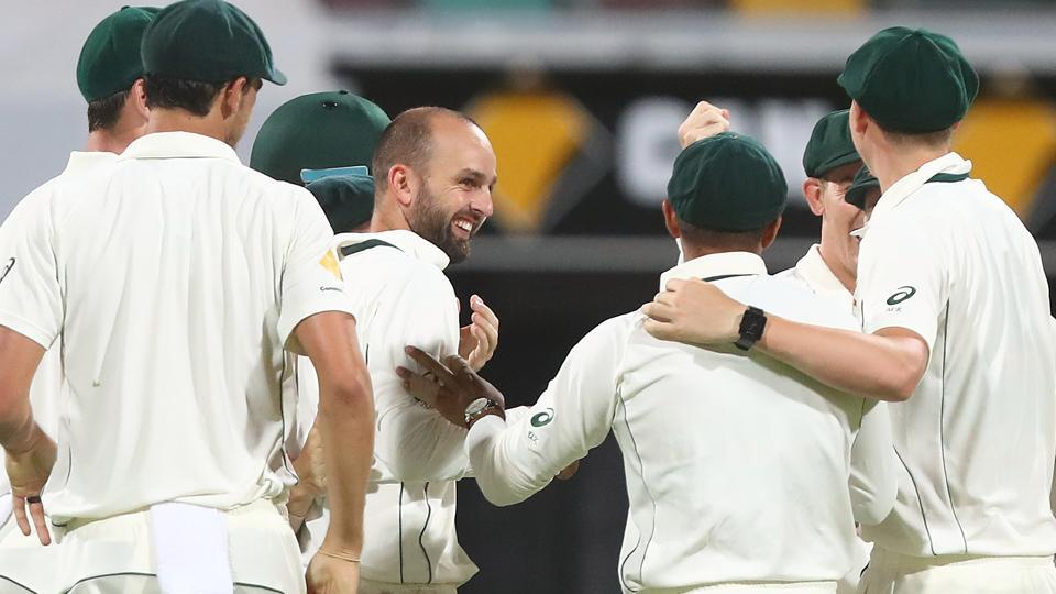 Nathan Lyon and Mitchell Starc struck for Australia as they reduced Pakistan to 70/2 at stumps on day 3 of the Brisbane Test.