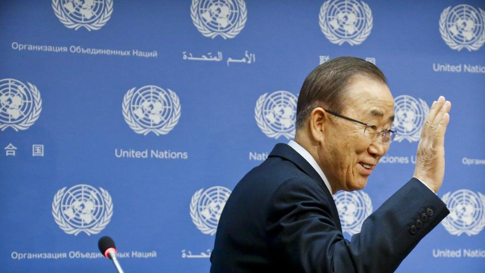 United Nations Secretary-General Ban Ki-moon expressed continued support for the global momentum behind the Paris Agreement on climate change.