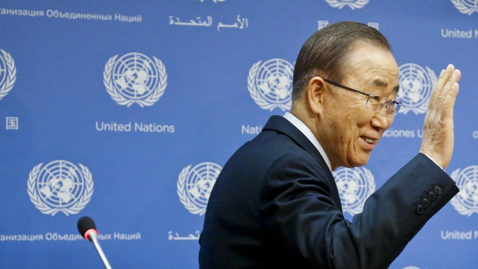 United Nations secretary general Ban Ki-moon at a press conference on Friday.