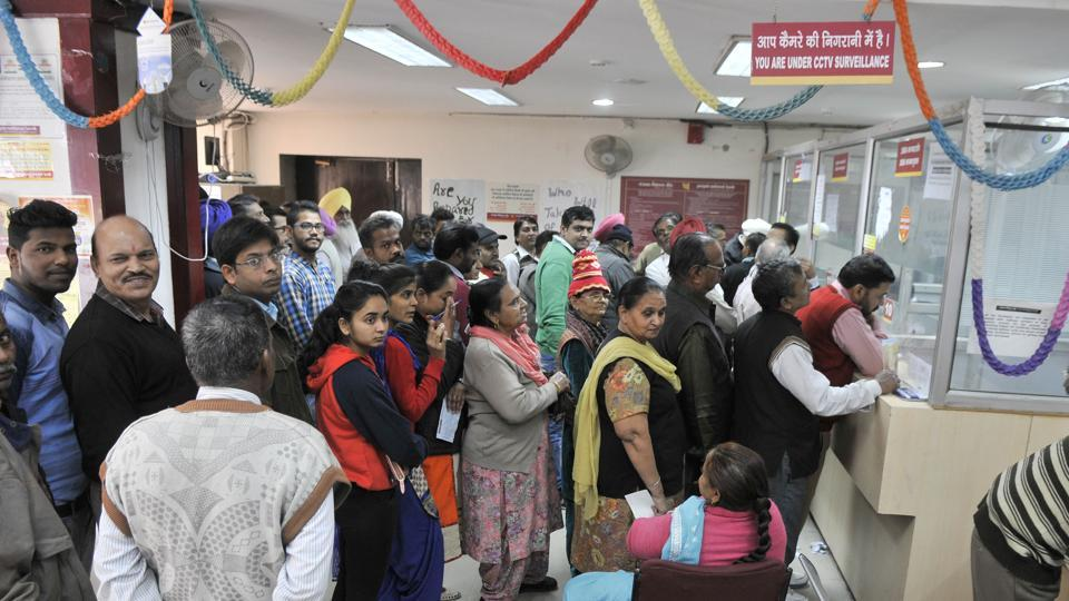 An 80-year-old farmer died inside a bank in Uttar Pradesh after an argument with authorities who gave him less than half the money he needed to withdraw for his medical treatment.