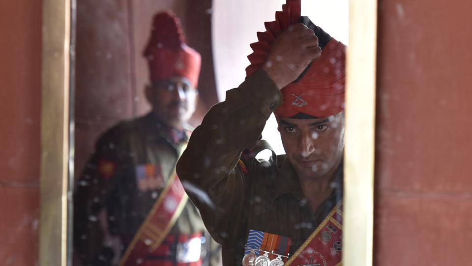 Every Saturday, the old and new guard which consist a troop from the President's Body Guard and another platoon from an Indian Army regiment parade for the guard change ceremony in their ceremonial regalia. (Raj K Raj/HT )