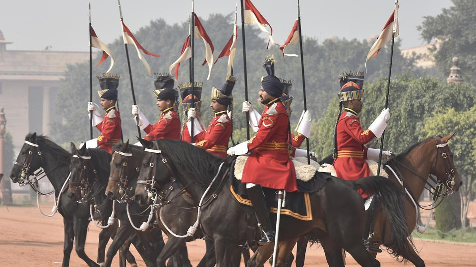The President's Bodyguard, raised in 1773, is the senior-most Regiment of the Indian Army. It is a Regiment with horses carrying out ceremonial duties for The President.  (Raj K Raj/HT PHOTO)