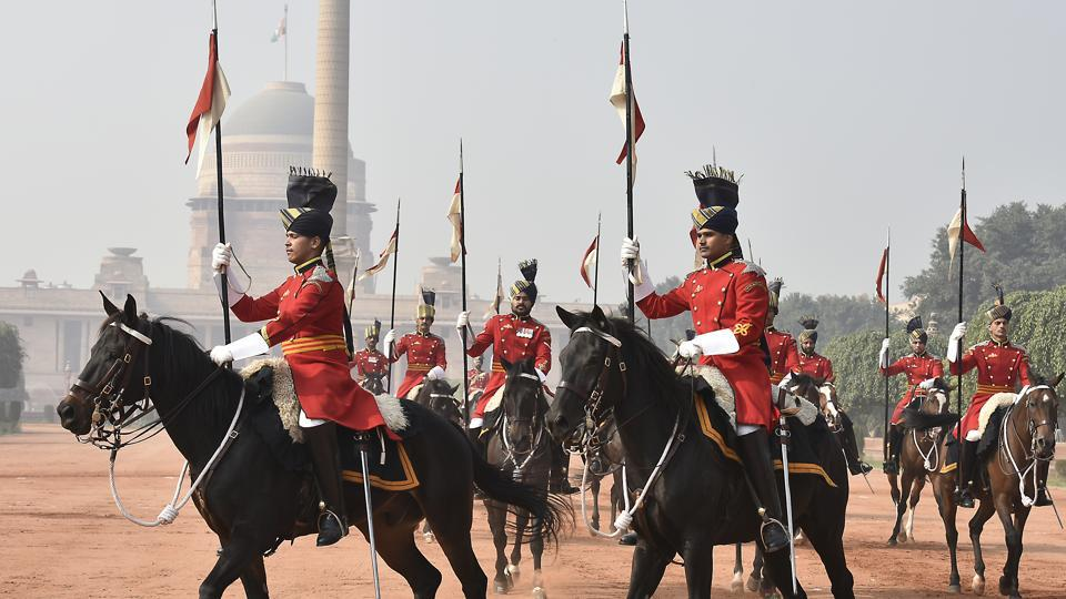 The President's Bodyguard, raised in 1773, is the senior most Regiment of the Indian Army.  (Raj K Raj/HT PHOTO)