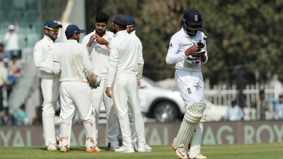 However, after the lunch break, Rashid departed to a poor stroke for 60 as Umesh Yadav got the wicket. (BCCI)