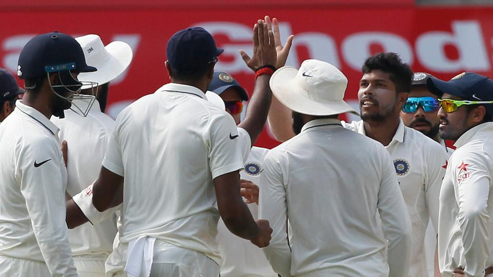 Umesh Yadav got the key wicket of Moeen Ali for 146 as India staged a fightback on the second day of the Chennai Test versus England.