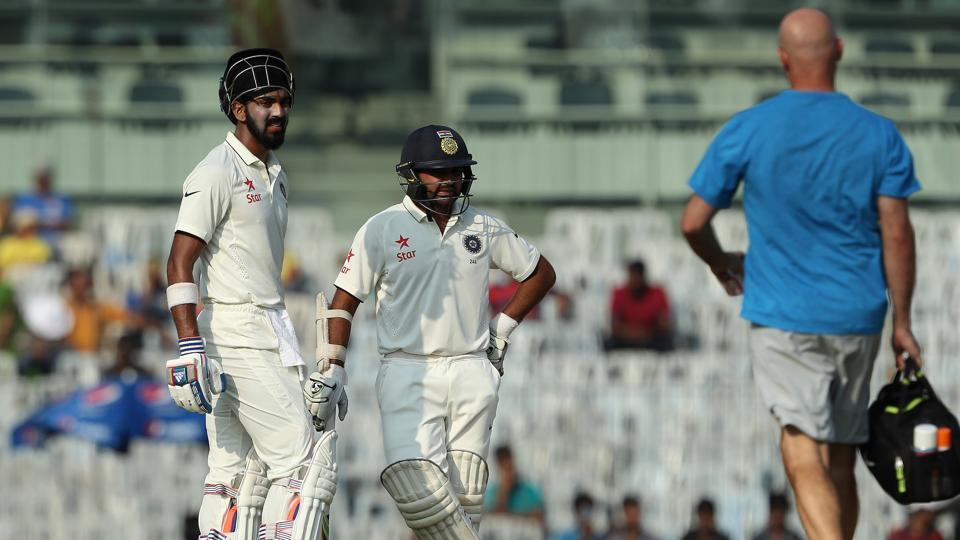KL Rahul opened the innings with Parthiv Patel as Murali Vijay suffered a shoulder injury while fielding. (BCCI)