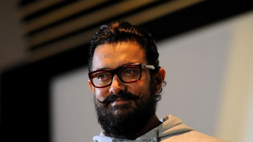 Aamir Khan poses during the trailer launch of the forthcoming musical-drama Hindi film Secret Superstar written and directed by Advait Chandan, in Mumbai on December 16.