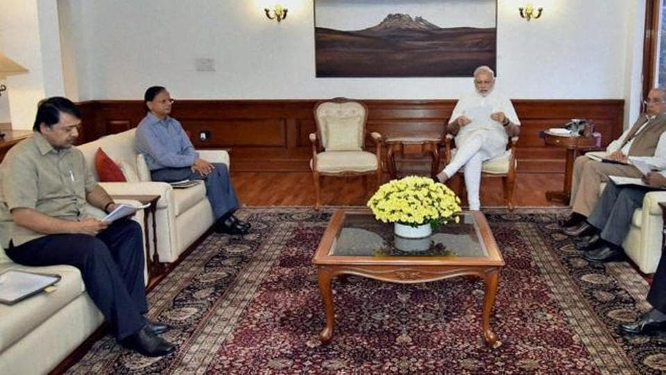 Prime Minister Narendra Modi chairs a meeting on the Indus Water Treaty, New Delhi